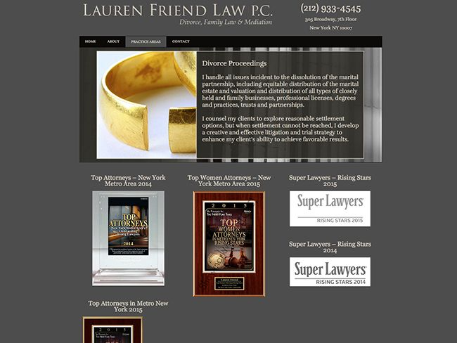 Lauren Friend Law portfolio screenshot