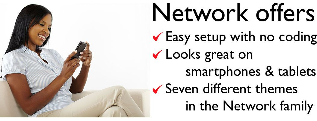 Network WordPress business theme benefits slide 1