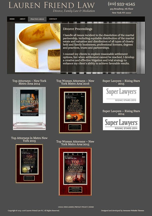 Lauren Friend Law Website - Designed and Developed by Mike Nichols