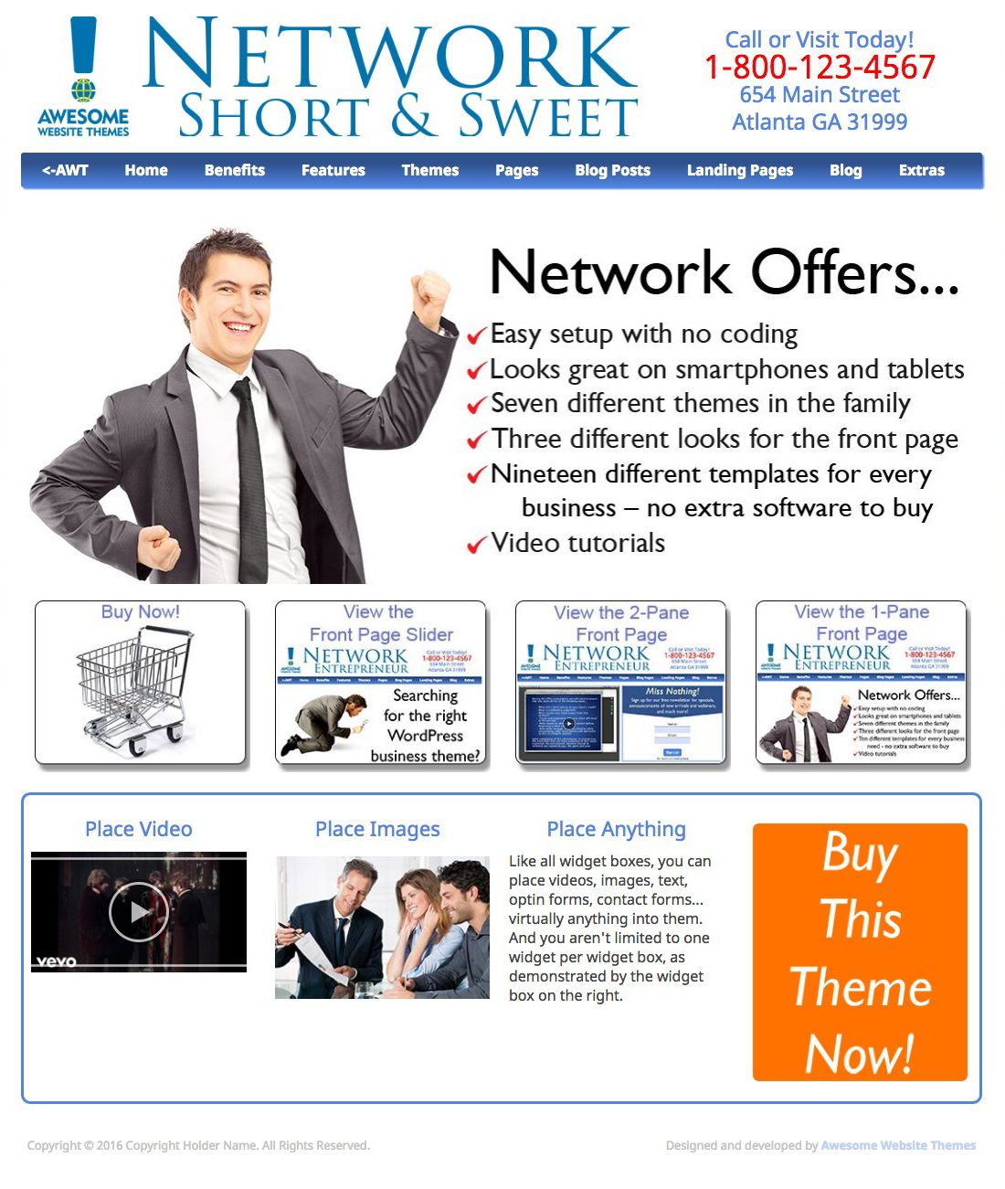 Network Short &  Sweet with 1-Pane Feature Box
